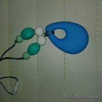 Łezka niebieska Naszyjnik Gryzak silikonowy dla dzieci idealna biżuteria dla Mamy